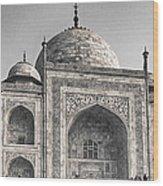 Taj Dressed In White Wood Print
