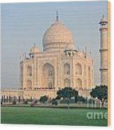 Taj Mahal At Sunrise - Agra - Uttar Pradesh - India Wood Print