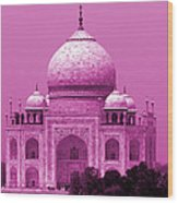 Pink Taj Mahal, Agra, India Wood Print