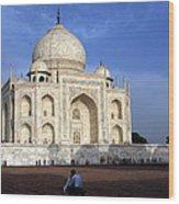 Taj Mahal Love Wood Print