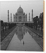 Taj Mahal Reflection Wood Print