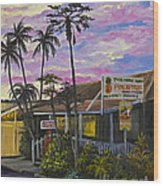 Take Home Maui Wood Print by Darice Machel McGuire