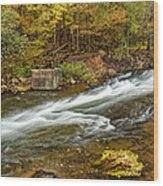 Take Me To The Other Side Beaver's Bend Broken Bow Lake Flowing River Fall Foliage Wood Print