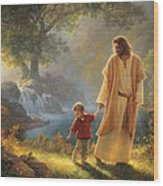 Take My Hand Wood Print by Greg Olsen