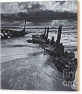 Taken By The Sea Wood Print