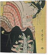Takigawa From The Tea House Ogi Wood Print