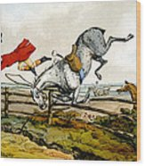 Taking A Tumble From Qualified Horses And Unqualified Riders Wood Print