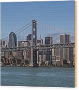Taking The San Francisco Bay Ferry To Wood Print