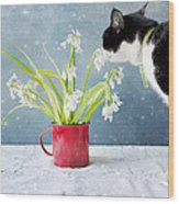 Taking Time To Smell The Flowers Wood Print