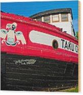 Taku Chief Wood Print