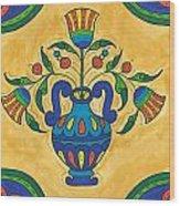 Talavera Flora 2 Wood Print