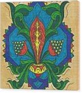 Talavera Flora Wood Print