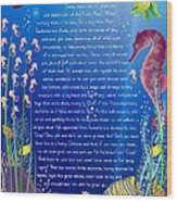 Tale-on-a-poster / The Baby Seahorse Wood Print