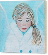 Talini Little Snow Angel Bringing Warmth On Cold Days Wood Print