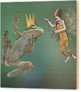 Talking With The Frog King Wood Print