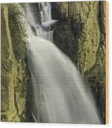 Tall Canyon Waterfalls Wood Print