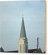 Tall Church Steeple Wood Print