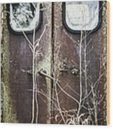 Tall Doors Wood Print