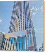 Tall Highrise Buildings In Uptown Charlotte Near Blumental Perfo Wood Print