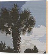 Tall Palm Wood Print