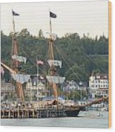Tall Ship Wood Print by Brett Geyer