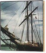 Tall Ship Wood Print