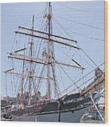 Tall Ship Elissa - Galveston Texas Wood Print