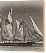 Tall Ship II Wood Print