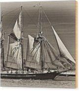 Tall Ship II Wood Print