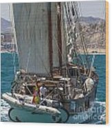 Tall Ship Isla Ebusitania  Wood Print