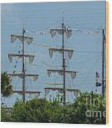 Tall Ship Mast Charleston  Wood Print