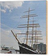 Tall Ship Mushulu At Penns Landing Wood Print
