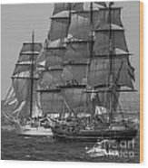 Tall Ship Stad Amsterdam Wood Print
