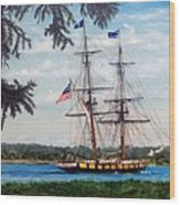 The Tall Ship Niagara Wood Print