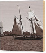Tall Ships 3 Wood Print