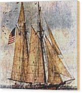 Tall Ships Art Wood Print