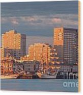 Tall Ships At The Seaport Wood Print
