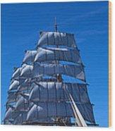 Tall Ships Race In The Ocean, Baie De Wood Print