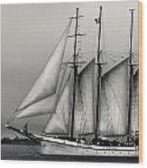 Tall Ships Sailing Boat Wood Print