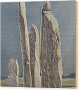 Tall Stones Of Callanish Isle Of Lewis Wood Print