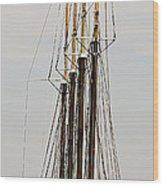 Tall Tall Ship Wood Print