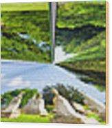 Tall Tombstones Polar View Wood Print