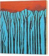 Tall Trees Wood Print