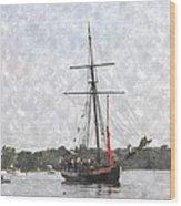 Tallship Providence Prwc Wood Print