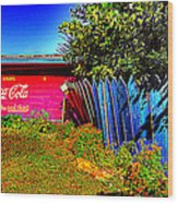 Tallulah Point Overlook Coke Sign Wood Print