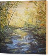 Tallulah River Color Wood Print by Barbara Pirkle