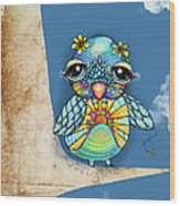 Tallulah Sunshine Wood Print by Karin Taylor