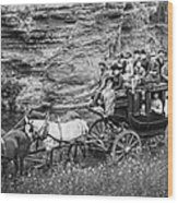Tallyho Stagecoach Party C. 1889 Wood Print by Daniel Hagerman
