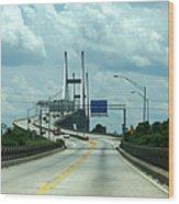 Talmadge Memorial Bridge In Savannah Georgia  Wood Print