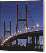 Talmadge Memorial Bridge Savannah Wood Print